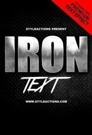 iron-text-psd-action