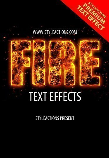 text-fire-effect-psd-action