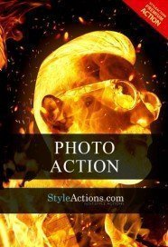 fire-face-psd-action