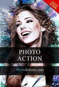 splatter-photoshop-action