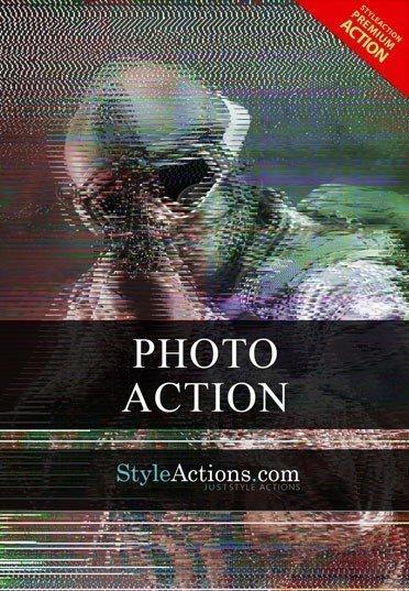 glitch-psd-action