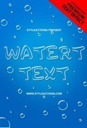 water-text-psd-action