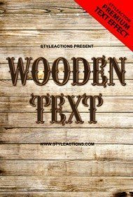 wood-psd-text-action