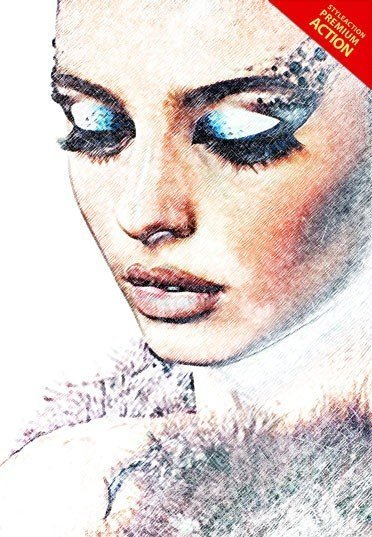 sketch-color-drawing-photoshop-action
