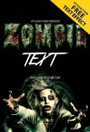 zombie-text-photoshop-action
