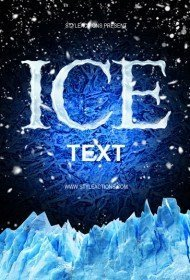 ice-text-photoshop-action
