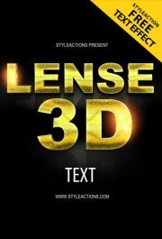 lense-3d-text-styles-photoshop-action
