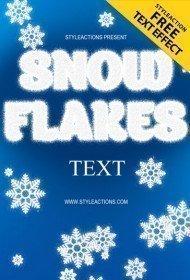 snowflakes-text-style