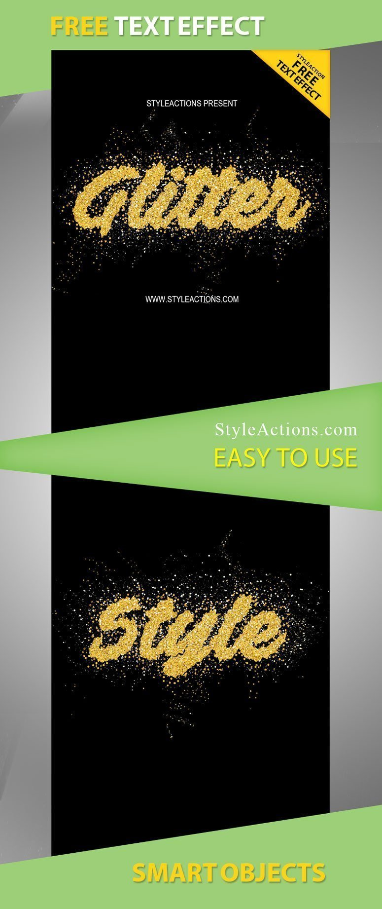 Glitter Style Photoshop Actions Free Download #15225 - Styleflyers
