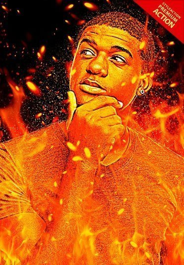 flame-photoshop-action