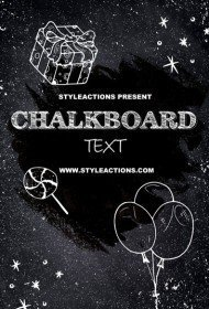 chalkboard-text-effect-photoshop-action