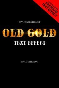 old-gold-text-effect-photoshop-action