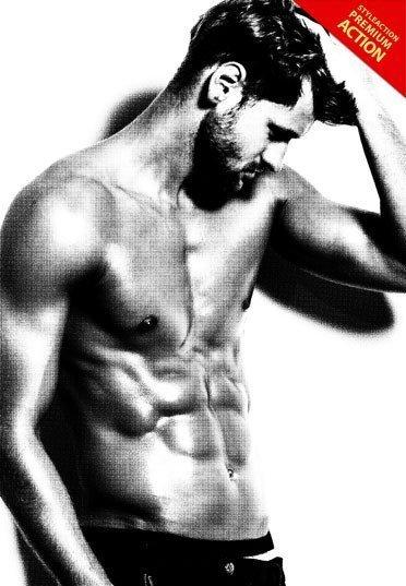 blackwhite-photoshop-action