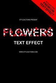 flowers-text-effect-photoshop-action