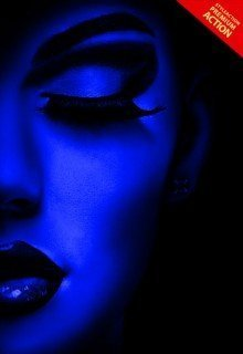 uv-black-light-photoshop-action