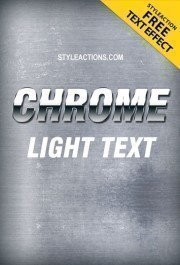 chrome-light-text-effect