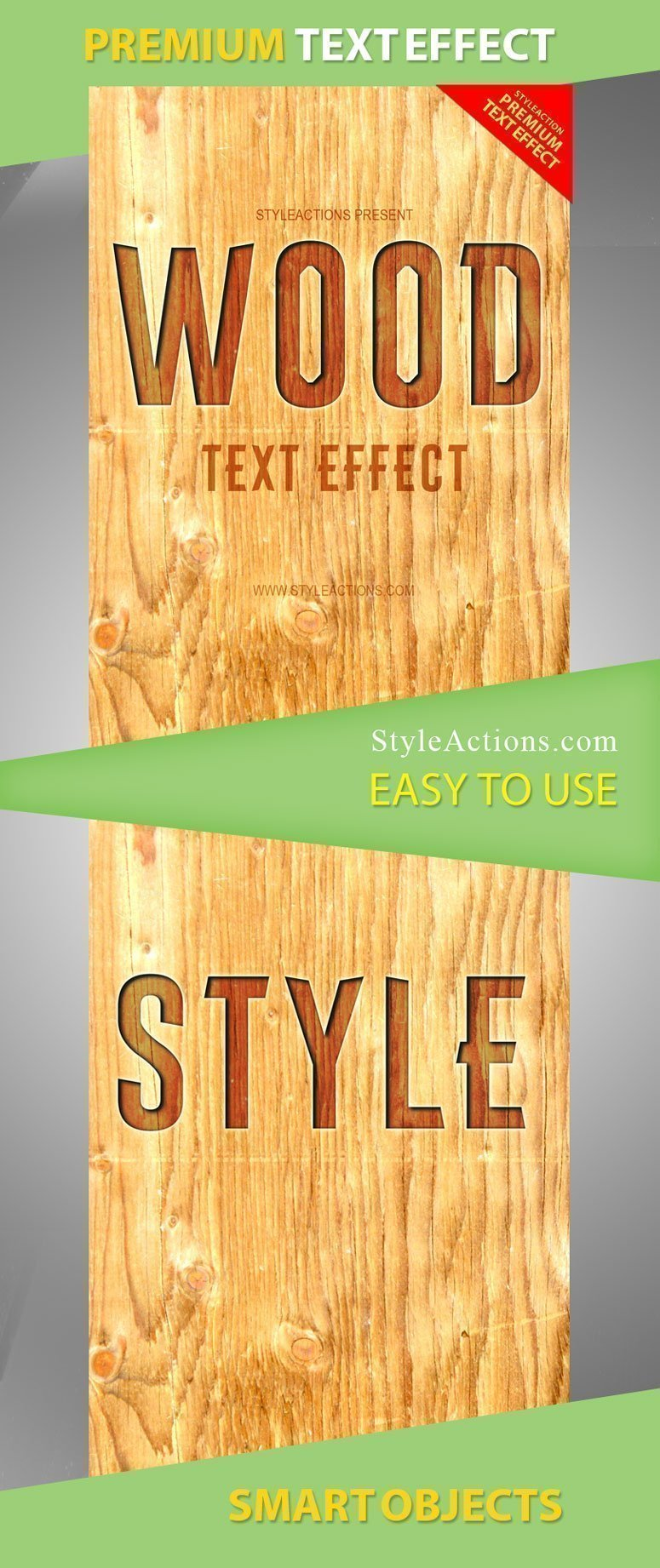 Wood Text Effect PSD Action