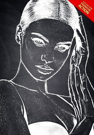 chalk-drawing-ps-action