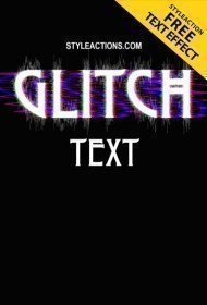 glitch-text-ps-action