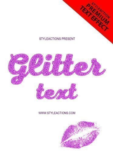 glitter-text-ps-action