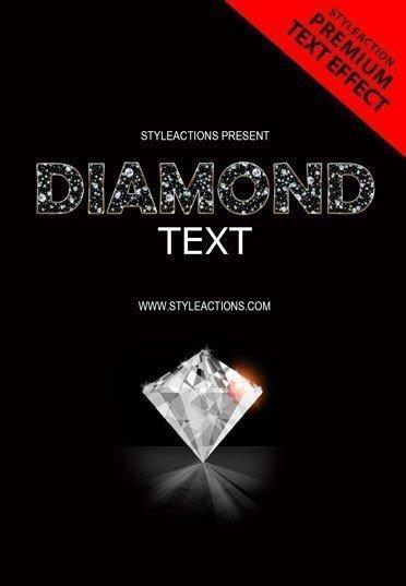 diamond-text-ps-action