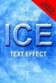 ice-text-effect-ps-action
