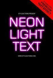 neon-light-text-ps-action
