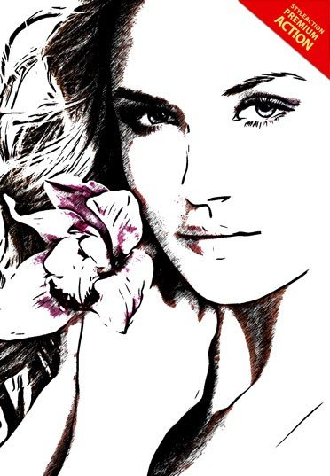 sketcher-photoshop-action