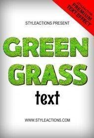 green-grass-text-effect