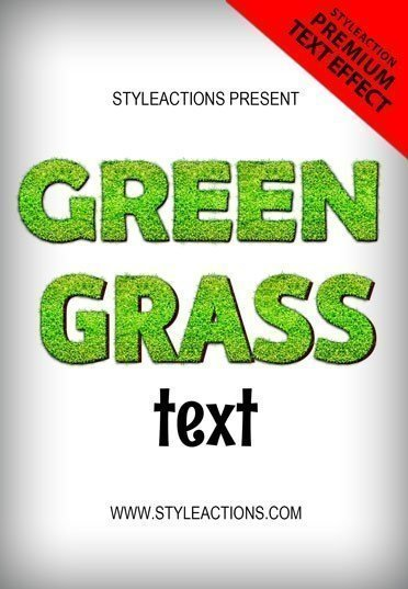 green-grass-text-effect