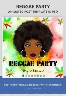 reggae-party-animated-template