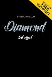 diamond-text-effect-ps-action