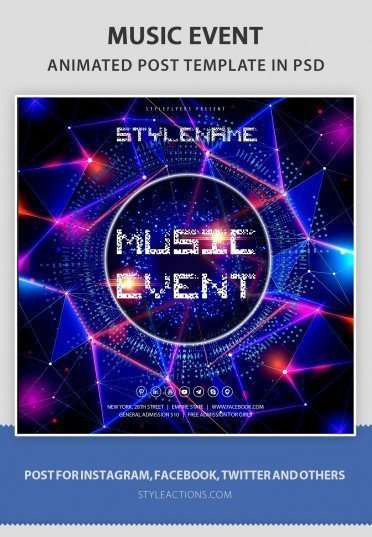 music-event-animated-template