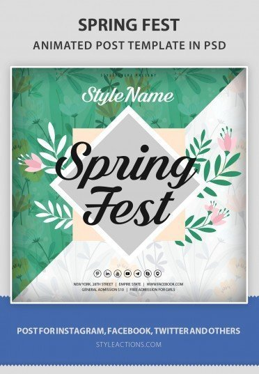 spring-fest-animated-template