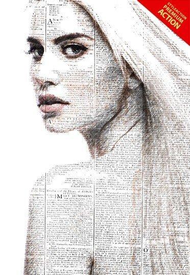 newspaper-art-photoshop-action