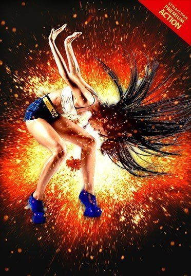 fire-explosion-photoshop-action